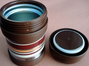 A thermos mug is essential for outdoor trips